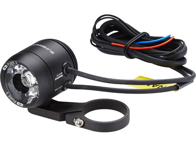 Supernova E3 Pure 3 Front Lighting med Hållare för styret black